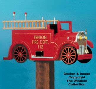 yard garden projects firetruck mailbox woodcraft