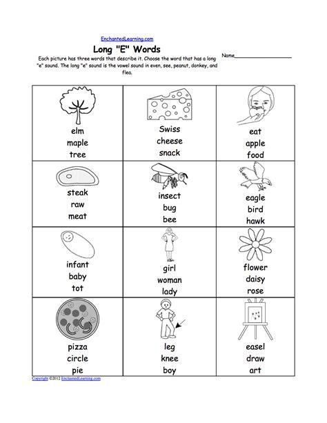 Long Vowel E Worksheets Worksheets For All  Download And Share Worksheets  Free On Bonlacfoodscom