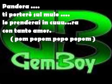 gemboy la di piero testo doovi - Pandora Testo Gem Boy