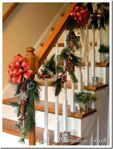 Banister Decorations by Gail S Decorative Touch Staircase Banister