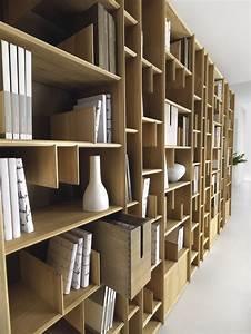Bibliothèque Design Bois : biblioth que murale en bois espace by domus arte design ~ Teatrodelosmanantiales.com Idées de Décoration