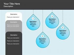 Powerpoint Slide - Process List Diagram - Water - Drop