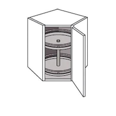 meuble d angle cuisine meuble de cuisine haut d 39 angle avec 2 plateaux twist cuisine