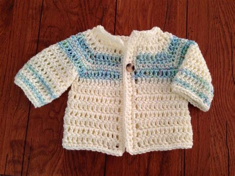 Easy Crochet Baby Sweater Pattern Free