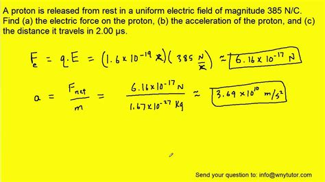 Rest Energy Of A Proton by A Proton Is Released From Rest In A Electric Field