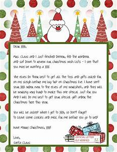 Printable blank santa claus free large images pinteres for Generic letter from santa