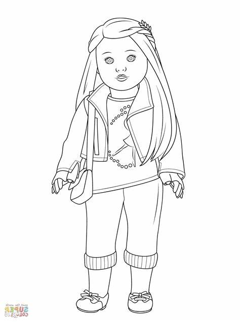 American Girl Coloring Pages MIM5 American Girl Coloring