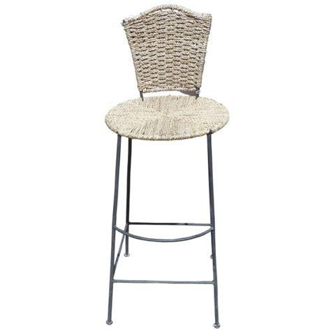 chaise de bar en rotin artisanat marocain de marrakech salon de jardin estival