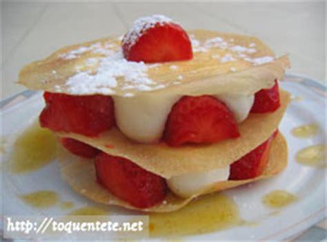 millefeuille de fraise en chantilly desserts sur toquentete net