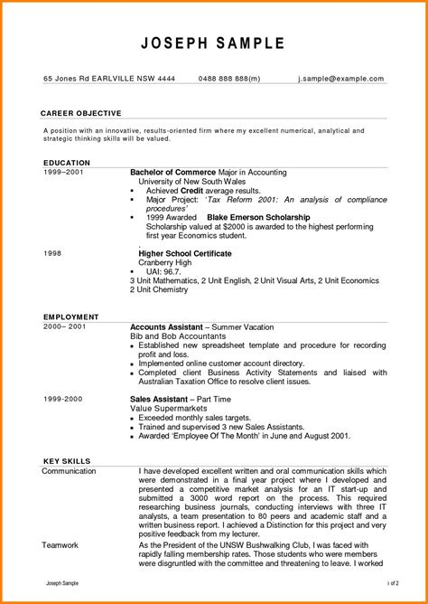 accounts assistant resume sle australia bongdaao