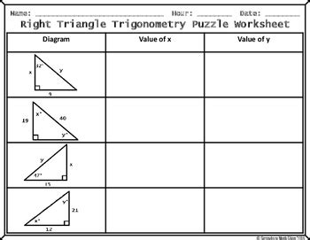 trigonometry puzzle worksheet resultinfos