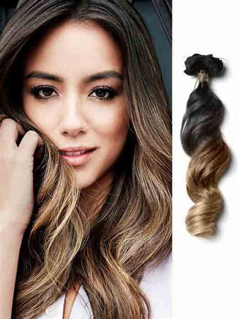 Brown And Black Hair by Wave Ash Brown Ombre Hair Extensions