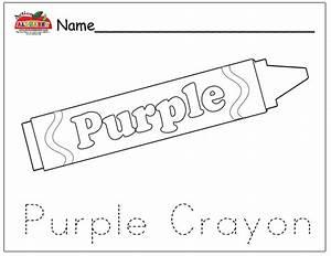 All Worksheets » Color Purple Worksheets For Preschool ...
