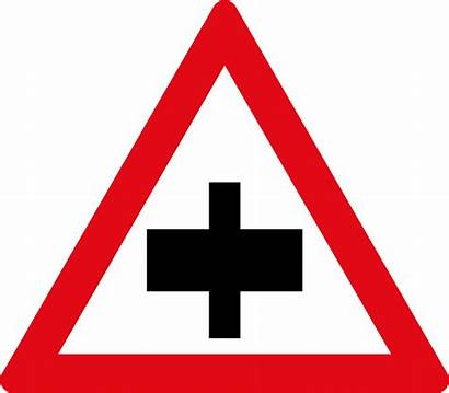 Sign Crossroad Road Svg Secondary Signs B2