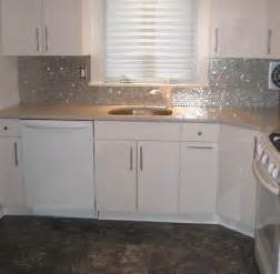stainless kitchen backsplash stainless steel circles subway tile outlet