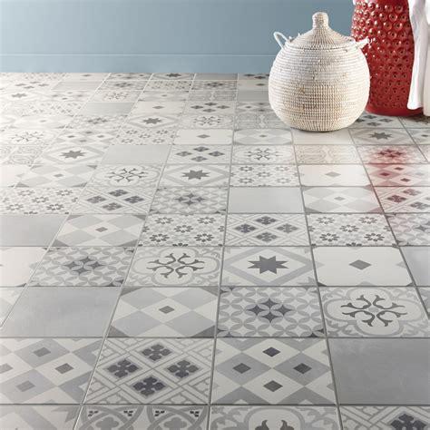 rouleau adhesif cuisine carrelage sol et mur blanc gris effet ciment gatsby l 20 x