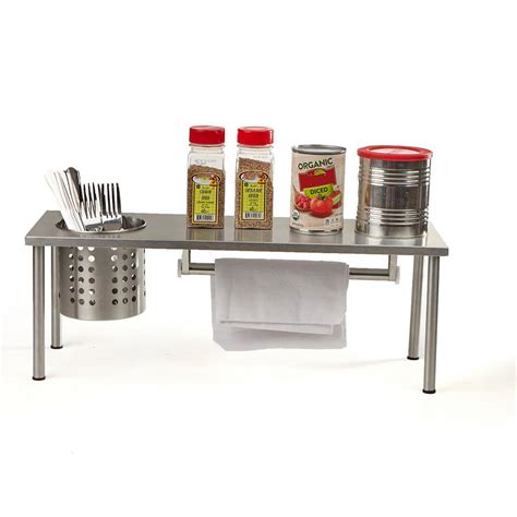 Silver Spice Rack by Mind Reader 1 Shelf Countertop Spice Rack Kitchen Rack