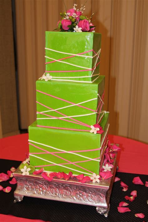 lime green wedding cake summer weddings