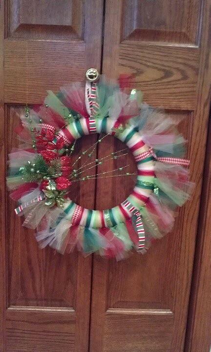 Christmas Tulle Wreath Ideas
