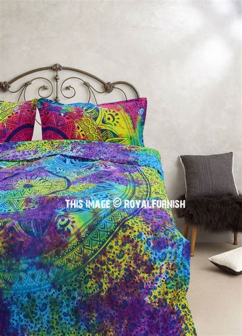 colorful mixed tie dye ombre duvet covers set