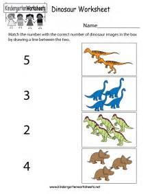 Free Printable Dinosaur Worksheet Kindergarten