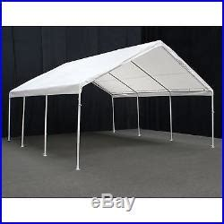 king canopy hercules white canopy carport    ft white    patio awnings canopies