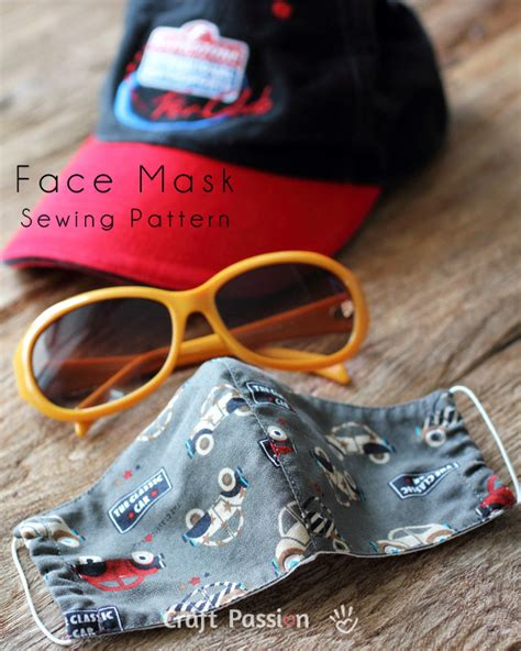 face mask pattern  sewing patter craft passion