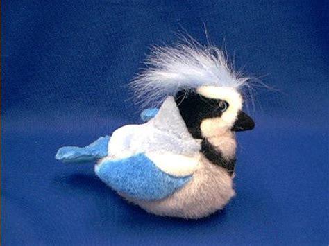blue jay bird stuffed animal plush  sound  anwocom