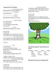 lemon tree present continuous song esl worksheet