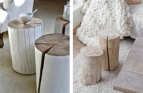 bout de canape bois table basse tronc diy ezooq com