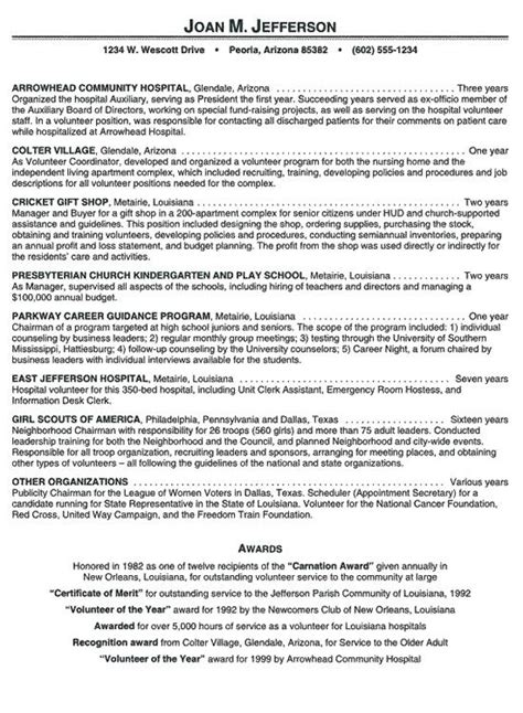 15332 volunteer resume template hospital volunteer resume exle 106 http topresume