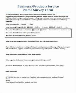 Sample Survey Questionnaire Template Free 8 Printable Survey Forms In Pdf Ms Word