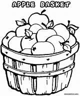 Apple Coloring Apples Pages Drawing Bucket Getdrawings sketch template