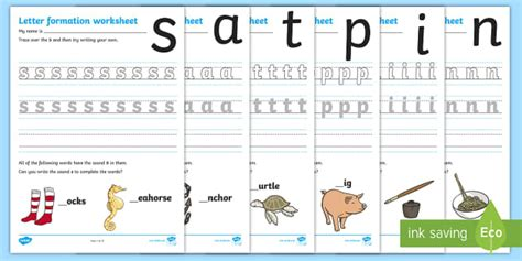 letter formation worksheets phase