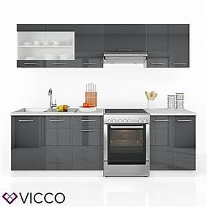 Küchenzeile 240 Cm : vicco k che 240 cm k chenzeile k chenblock einbauk che ~ Orissabook.com Haus und Dekorationen