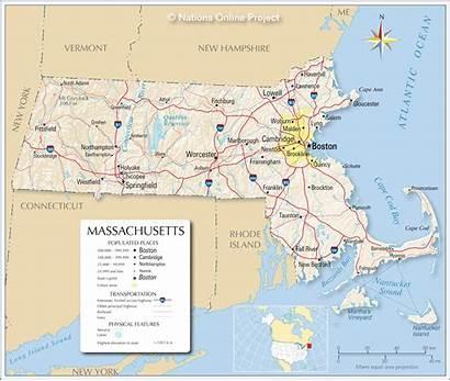 Massachusetts Map Maps Usa State Reference Ma