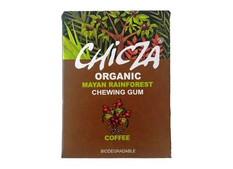 Chewing gum made for the intent of blowing bubbles of all sizes. Chicza organic coffee chewing gum 30g   Eden Project Shop