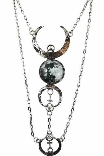 Moon Gothic Wolf Magic Necklace Pendant Luna