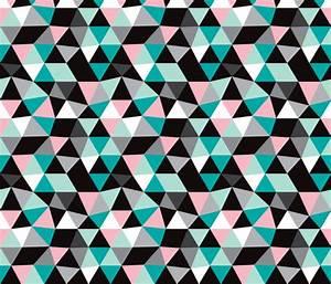 Pastel modern geometric triangle pattern LARGE fabric ...