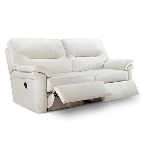 G Plan Washington Leather 3 Seater Electric Recliner Sofa