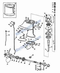 Gearcase Group Parts For 1965 6hp Cd