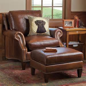 Comfortable Chairs With Ottomans by Leather Chair And Ottoman Set The Most Comfortable