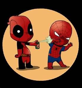 Deadpool & Spider-Man | Baby Superheroes, Villains ...