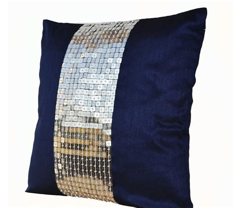 Navy Blue And Silver Throw Pillows by 301 Moved Permanently