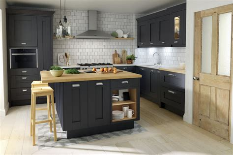 kitchen island design pictures shaker milbourne door in a bold charcoal