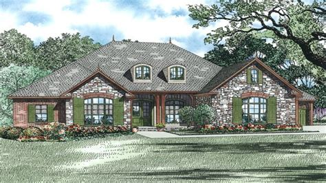 brick stone combinations homes brick and stone house plans brick country house plans