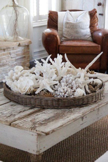 shells coffee tables and baskets on pinterest