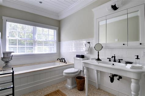 wood tub surround bathroom traditional  bead board tub