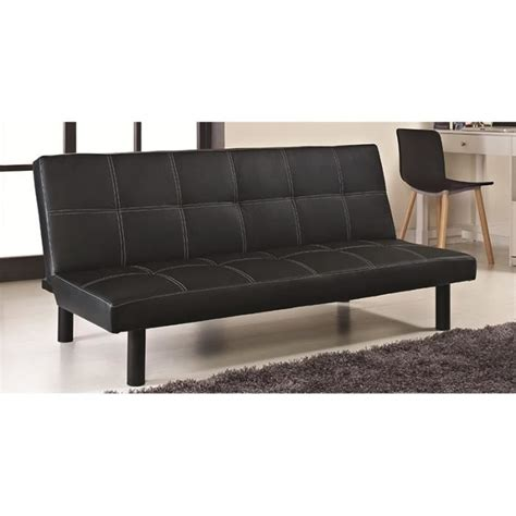 canapé clic clac cuir clic clac noir design en simili cuir achat vente bz