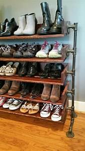 Möbel Aus Rohren : handmade reclaimed wood shoe stand rack von ~ Michelbontemps.com Haus und Dekorationen
